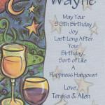 Custom Birthday Label